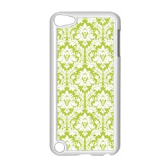 White On Spring Green Damask Apple Ipod Touch 5 Case (white)