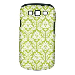 White On Spring Green Damask Samsung Galaxy S Iii Classic Hardshell Case (pc+silicone)