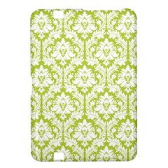 White On Spring Green Damask Kindle Fire HD 8.9  Hardshell Case