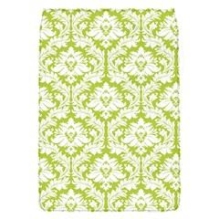 White On Spring Green Damask Removable Flap Cover (Small)