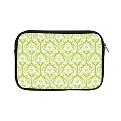 White On Spring Green Damask Apple Ipad Mini Zippered Sleeve