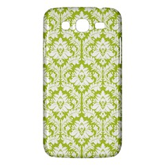 White On Spring Green Damask Samsung Galaxy Mega 5.8 I9152 Hardshell Case