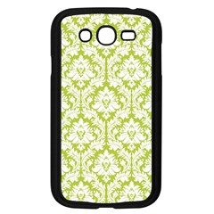 White On Spring Green Damask Samsung Galaxy Grand DUOS I9082 Case (Black)