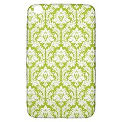 White On Spring Green Damask Samsung Galaxy Tab 3 (8 ) T3100 Hardshell Case