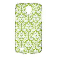 White On Spring Green Damask Samsung Galaxy S4 Active (I9295) Hardshell Case