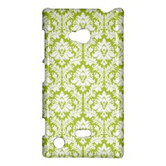 White On Spring Green Damask Nokia Lumia 720 Hardshell Case