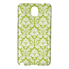 White On Spring Green Damask Samsung Galaxy Note 3 N9005 Hardshell Case
