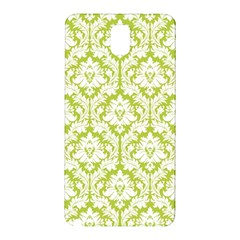 White On Spring Green Damask Samsung Galaxy Note 3 N9005 Hardshell Back Case