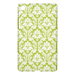 White On Spring Green Damask Google Nexus 7 (2013) Hardshell Case