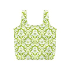 Spring Green Damask Pattern Full Print Recycle Bag (S)