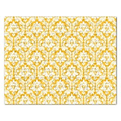 White On Sunny Yellow Damask Jigsaw Puzzle (Rectangle)
