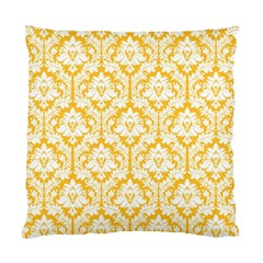 Sunny Yellow Damask Pattern Standard Cushion Case (One Side)