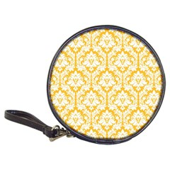 White On Sunny Yellow Damask Cd Wallet
