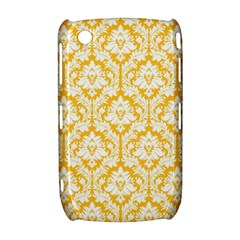 White On Sunny Yellow Damask BlackBerry Curve 8520 9300 Hardshell Case