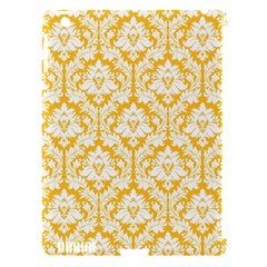 White On Sunny Yellow Damask Apple Ipad 3/4 Hardshell Case (compatible With Smart Cover)