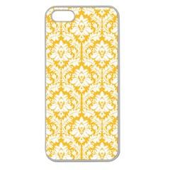 White On Sunny Yellow Damask Apple Seamless Iphone 5 Case (clear)