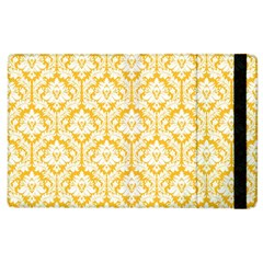 White On Sunny Yellow Damask Apple iPad 2 Flip Case