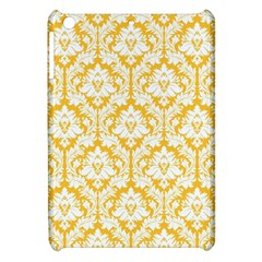 White On Sunny Yellow Damask Apple iPad Mini Hardshell Case