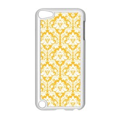 White On Sunny Yellow Damask Apple Ipod Touch 5 Case (white)