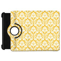 White On Sunny Yellow Damask Kindle Fire HD 7  (1st Gen) Flip 360 Case