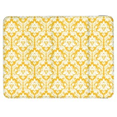 White On Sunny Yellow Damask Samsung Galaxy Tab 7  P1000 Flip Case