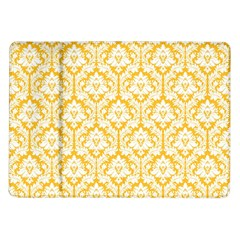 White On Sunny Yellow Damask Samsung Galaxy Tab 10 1  P7500 Flip Case