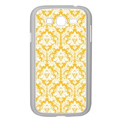 White On Sunny Yellow Damask Samsung Galaxy Grand DUOS I9082 Case (White)