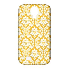 White On Sunny Yellow Damask Samsung Galaxy S4 Classic Hardshell Case (PC+Silicone)