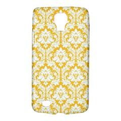White On Sunny Yellow Damask Samsung Galaxy S4 Active (I9295) Hardshell Case