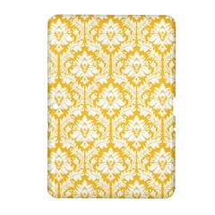 White On Sunny Yellow Damask Samsung Galaxy Tab 2 (10 1 ) P5100 Hardshell Case