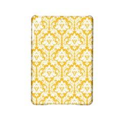 White On Sunny Yellow Damask Apple Ipad Mini 2 Hardshell Case