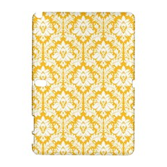White On Sunny Yellow Damask Samsung Galaxy Note 10 1 (p600) Hardshell Case