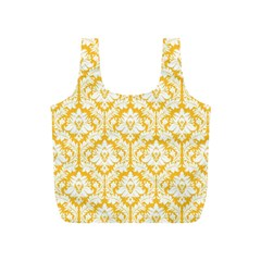 Sunny Yellow Damask Pattern Full Print Recycle Bag (S)