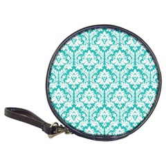 White On Turquoise Damask CD Wallet