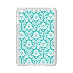 White On Turquoise Damask Apple iPad Mini 2 Case (White)