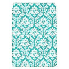 White On Turquoise Damask Removable Flap Cover (Large)