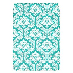White On Turquoise Damask Removable Flap Cover (Small)