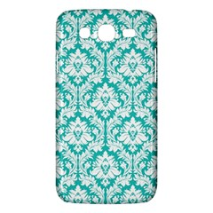 White On Turquoise Damask Samsung Galaxy Mega 5.8 I9152 Hardshell Case