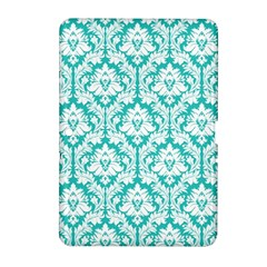 White On Turquoise Damask Samsung Galaxy Tab 2 (10 1 ) P5100 Hardshell Case