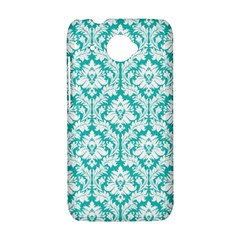 White On Turquoise Damask HTC Desire 601 Hardshell Case