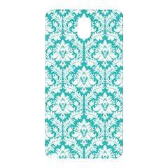 White On Turquoise Damask Samsung Galaxy Note 3 N9005 Hardshell Back Case