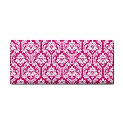 Hot Pink Damask Pattern Hand Towel