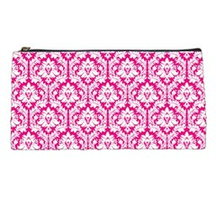 Hot Pink Damask Pattern Pencil Case