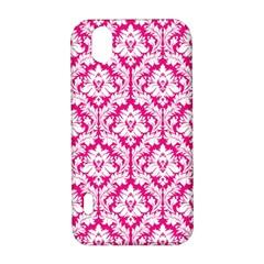 White On Hot Pink Damask LG Optimus P970 Hardshell Case