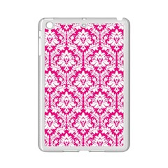 White On Hot Pink Damask Apple Ipad Mini 2 Case (white)
