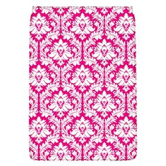 White On Hot Pink Damask Removable Flap Cover (Large)