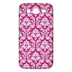 White On Hot Pink Damask Samsung Galaxy Mega 5 8 I9152 Hardshell Case
