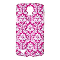White On Hot Pink Damask Samsung Galaxy S4 Active (I9295) Hardshell Case