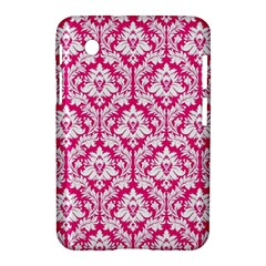 White On Hot Pink Damask Samsung Galaxy Tab 2 (7 ) P3100 Hardshell Case