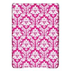 White On Hot Pink Damask Apple iPad Air Hardshell Case